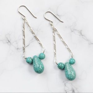 Jewelry - Turquoise and Sterling Silver Earrings